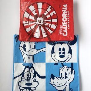Disney Lot Of 2 Mickey Reusable Tote Bag